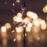 Nieuwjaarsstress vuurwerk sterretje